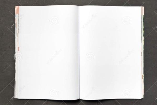 blank digital magazine template