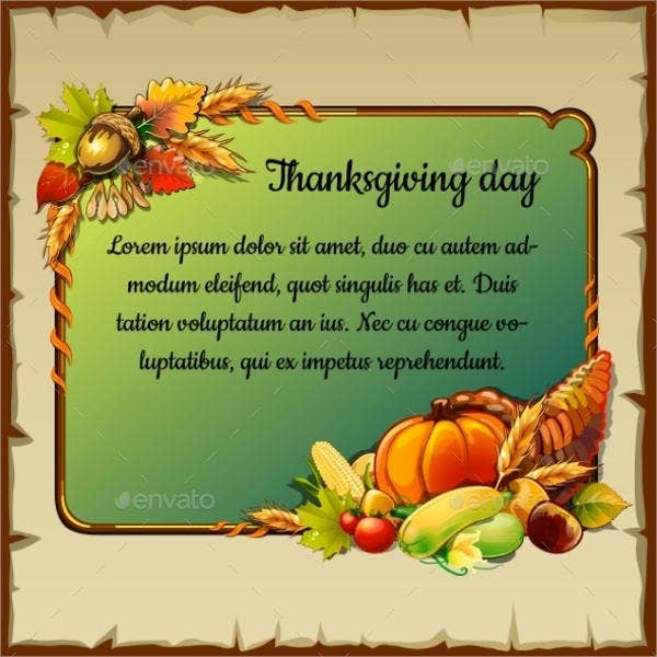 thanksgiving holiday event postcard