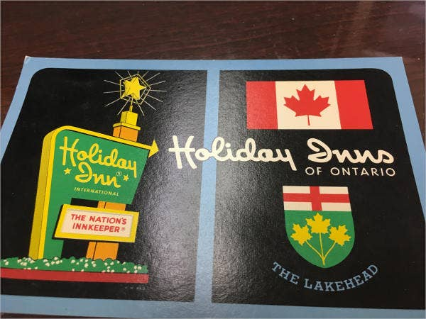 vintage holiday event postcard