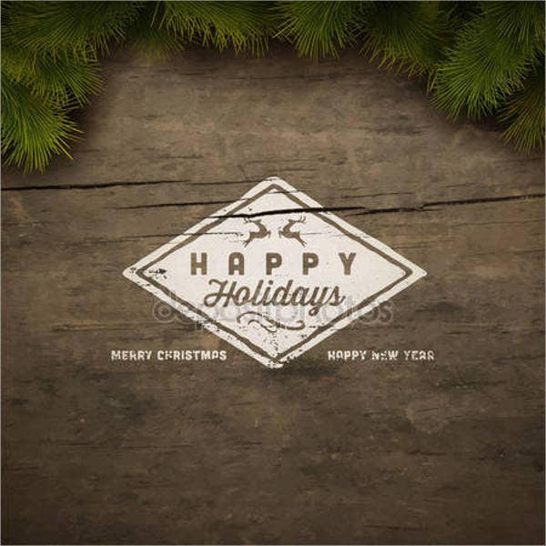 business holiday event postcard