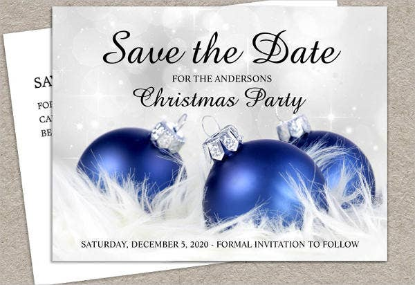 Holiday Event Postcards Designs Templates Free Premium - Christmas save the date template