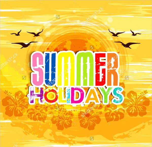 summer holiday event postcard