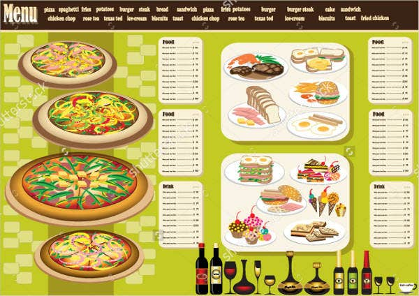Wedding Buffet Party Menu Design