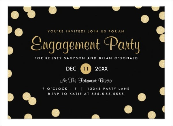 engagement invitation party banner