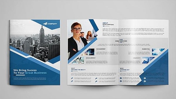 corporate marketing bifold brochure