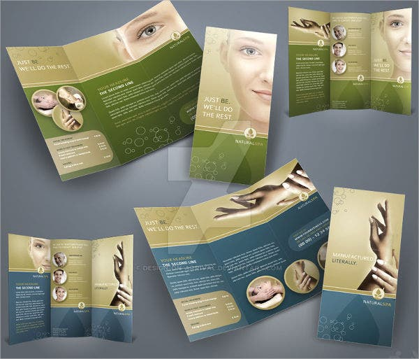 corporate marketing tri fold brochure