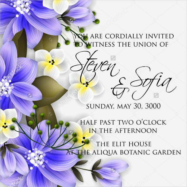 Wedding Garden Party Menu Template