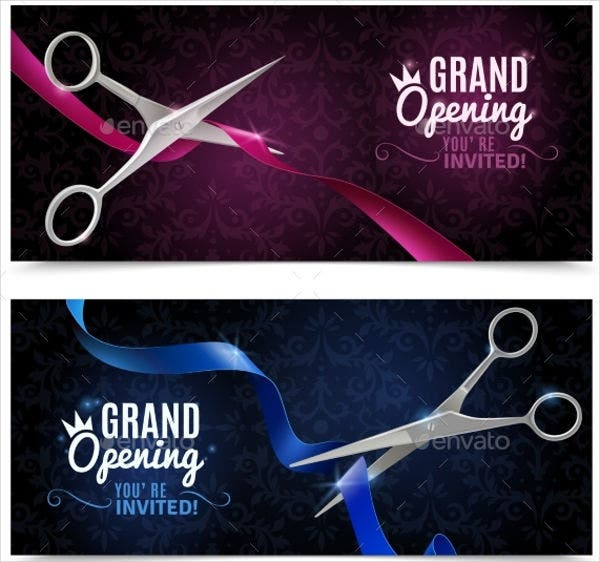 grand opening business invitation banner