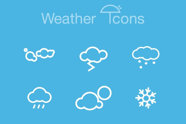Weather Channel App Icons