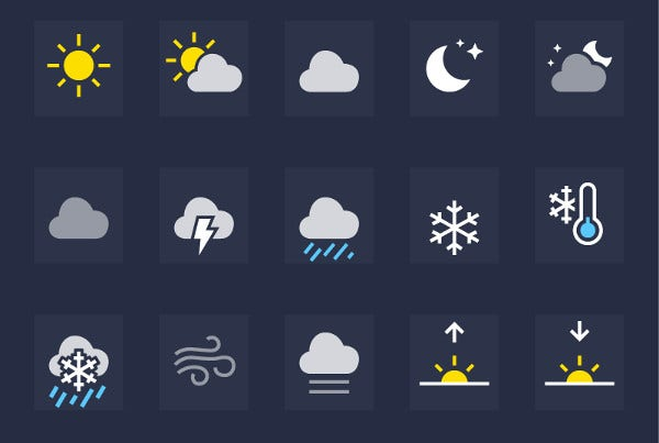 ios weather app icons