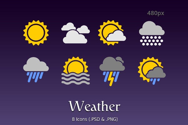 Android Weather App Icons
