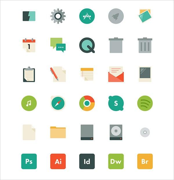 Flat Mac App Icons