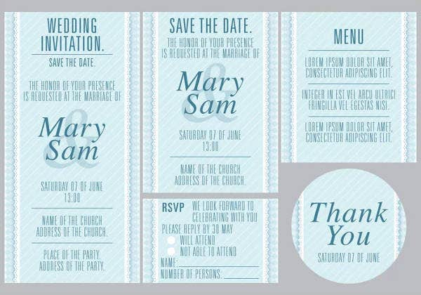 Free Wedding Shower Party Menu Design