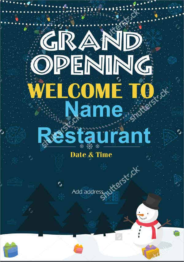 restaurant grand opening invitation banner