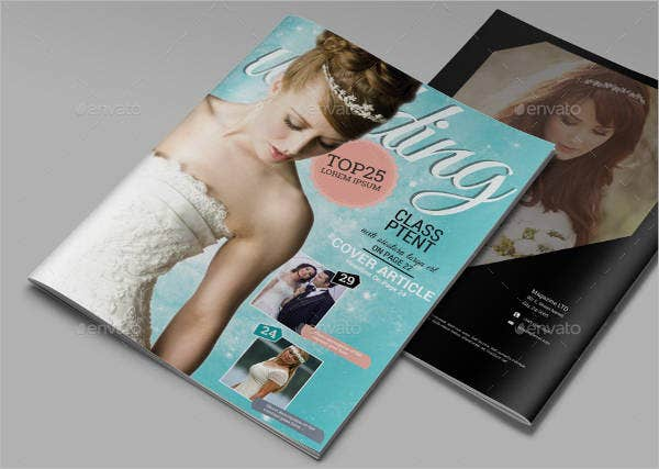 Advertising Bridal Magazine Template