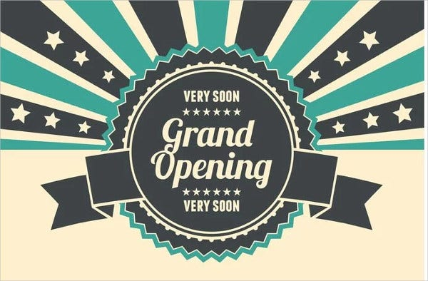 grand opening office invitation banner