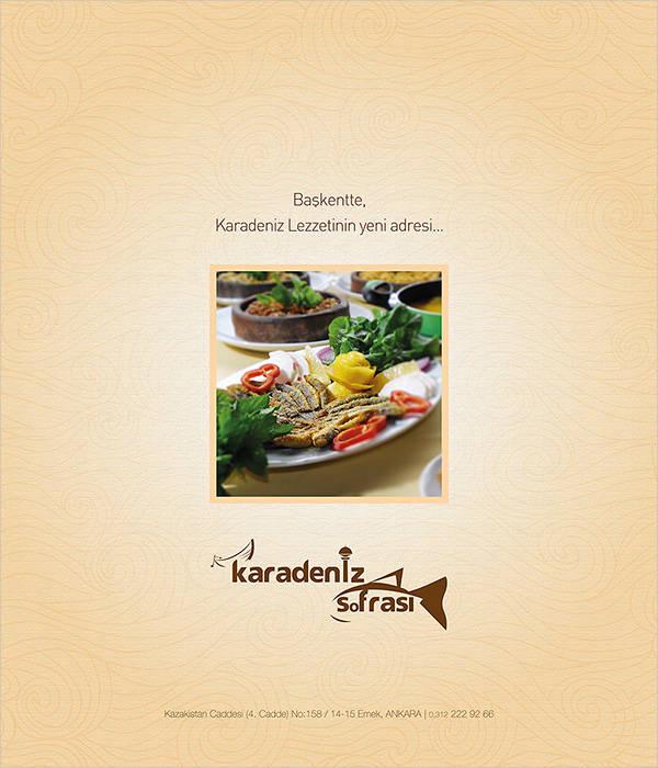 food advertising magazine template