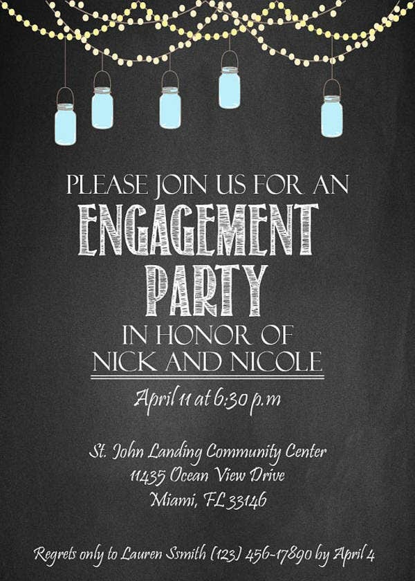 engagement chalkboard invitation banner1