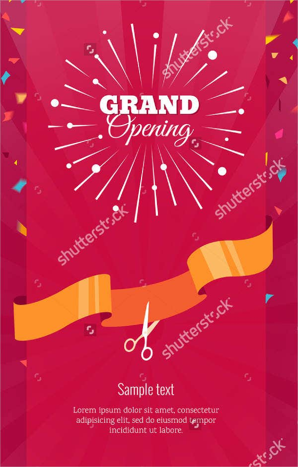 grand opening vertical invitation banner