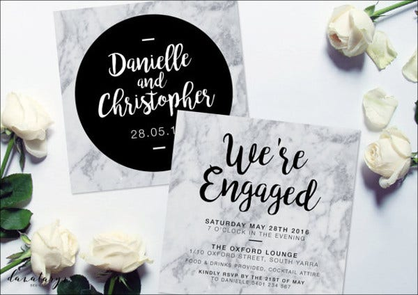 printable engagement invitation banner