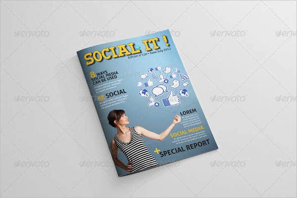 Advertising Media Magazine Template
