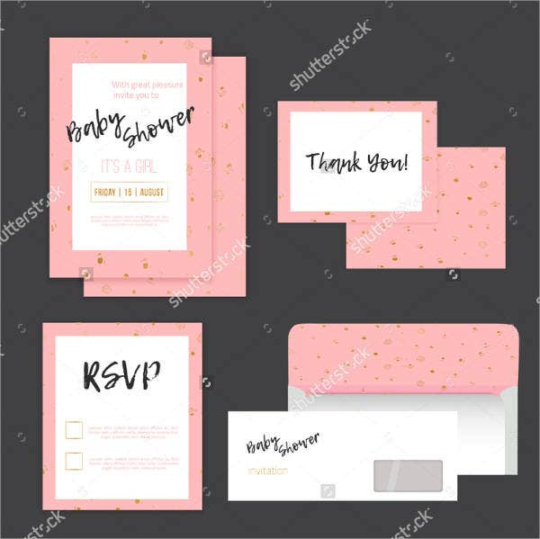 chevron baby shower invitation postcard