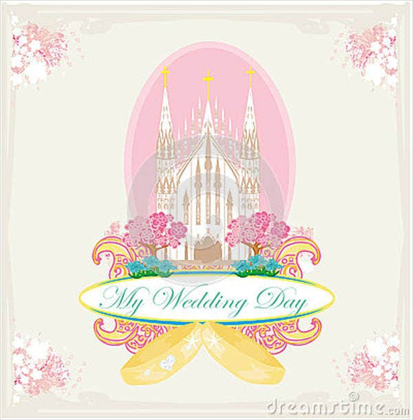 church-wedding-greeting-card