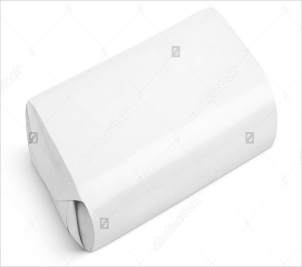 blanck soap wrapper template