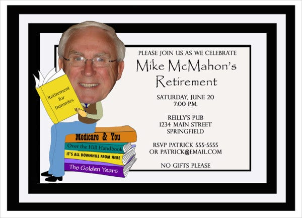 funny retirement party invitation