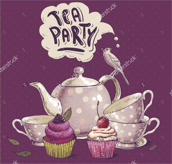vintage-tea-party-menu-template