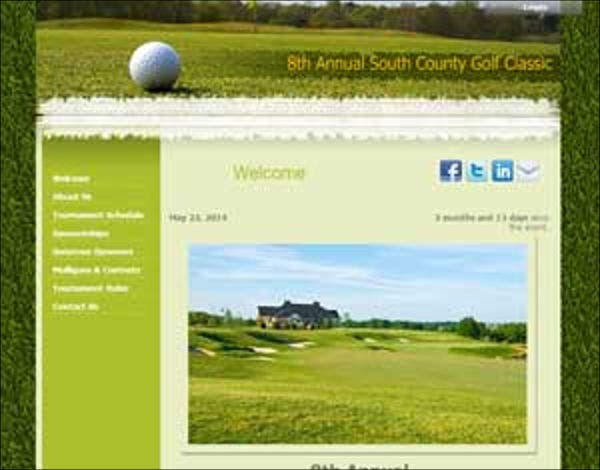 golf fundraising event invitation