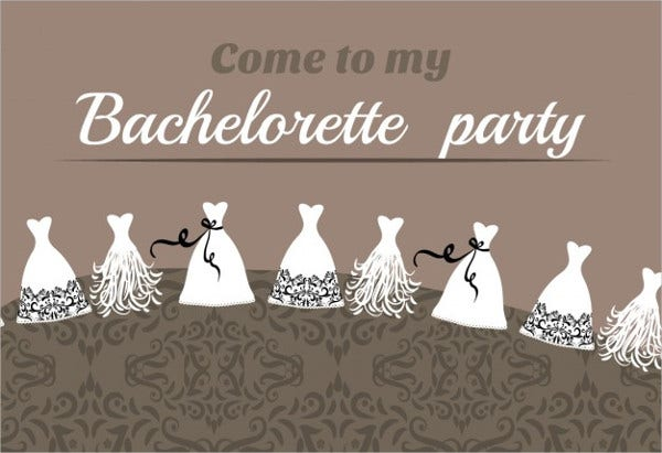 funny bachelorette party invitation