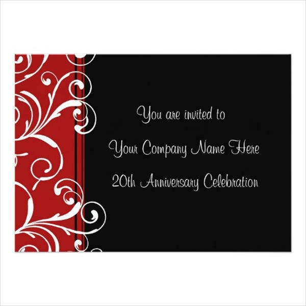7 business anniversary invitations psd free premium templates business anniversary invitation wording stopboris Choice Image