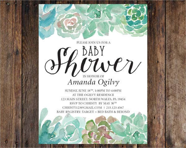 cheap baby shower invitation postcard