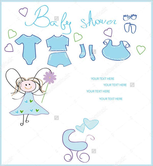 unique baby shower invitation postcard