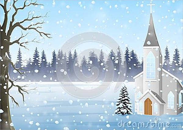 winter-church-greeting-card