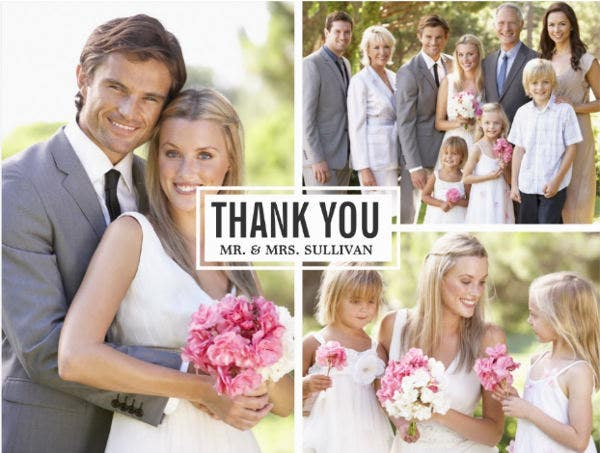 Wedding Thank You Invitation Postcard