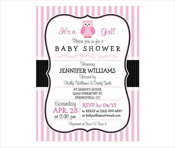 baby shower owl invitation postcard