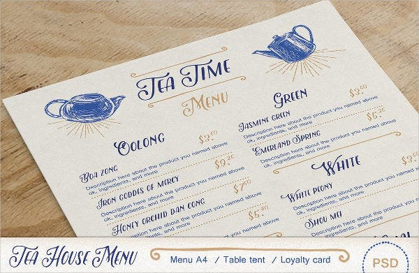 tea-party-menu-card-template