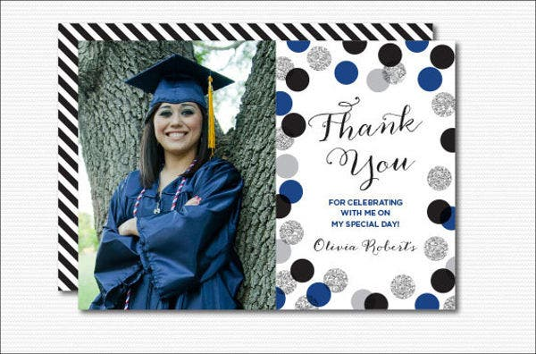 Lovely Printable Graduation Thank You Card