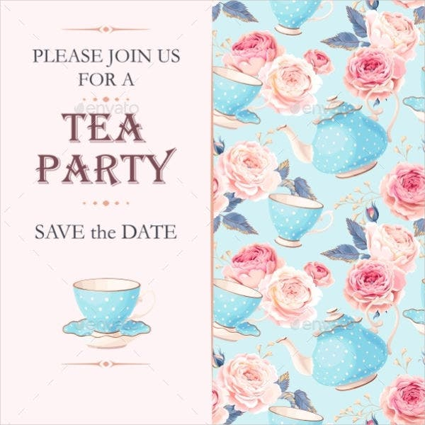 7 tea party menu templates designs templates free for Tea party menu template