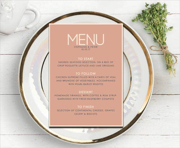 Open House Party Menu Design