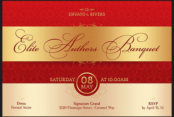 event management invitation postcard