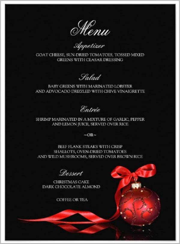 Dinner Party Menu Templates  Design Templates  Free