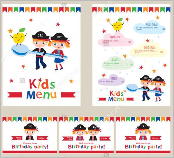 birthday dinner party menu design