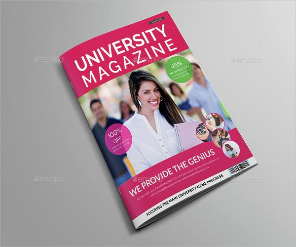 college technology magazine template