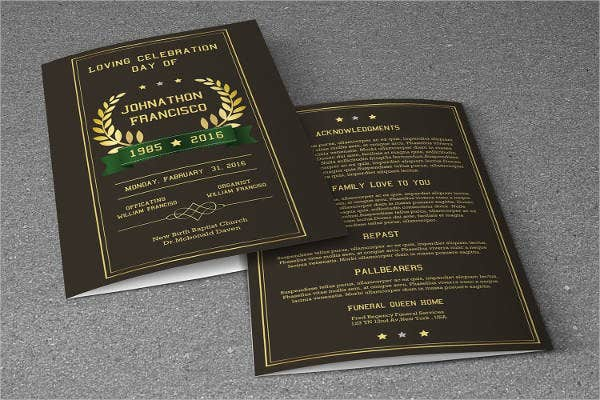 Funeral Event Planning Brochure