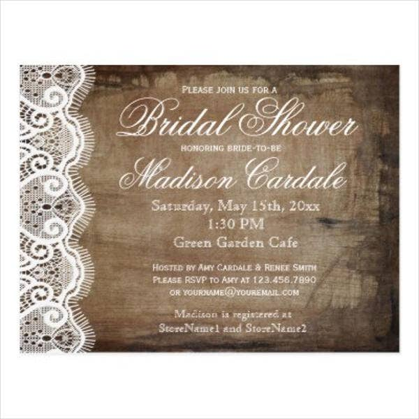 8 bridal shower invitation postcards designs templates free premium templates. Black Bedroom Furniture Sets. Home Design Ideas
