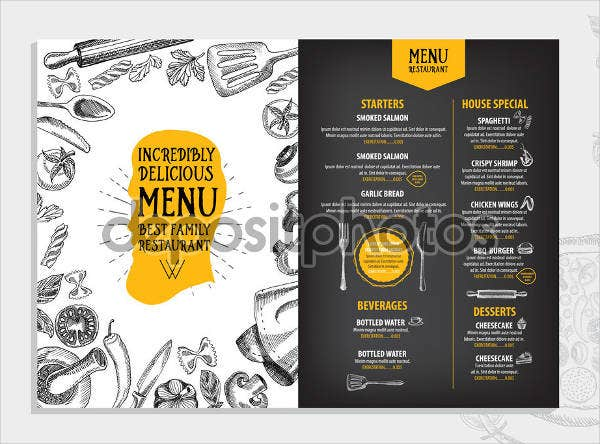 bbq rehearsal dinner restaurant menu design