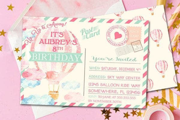 10  best birthday invitation postcards